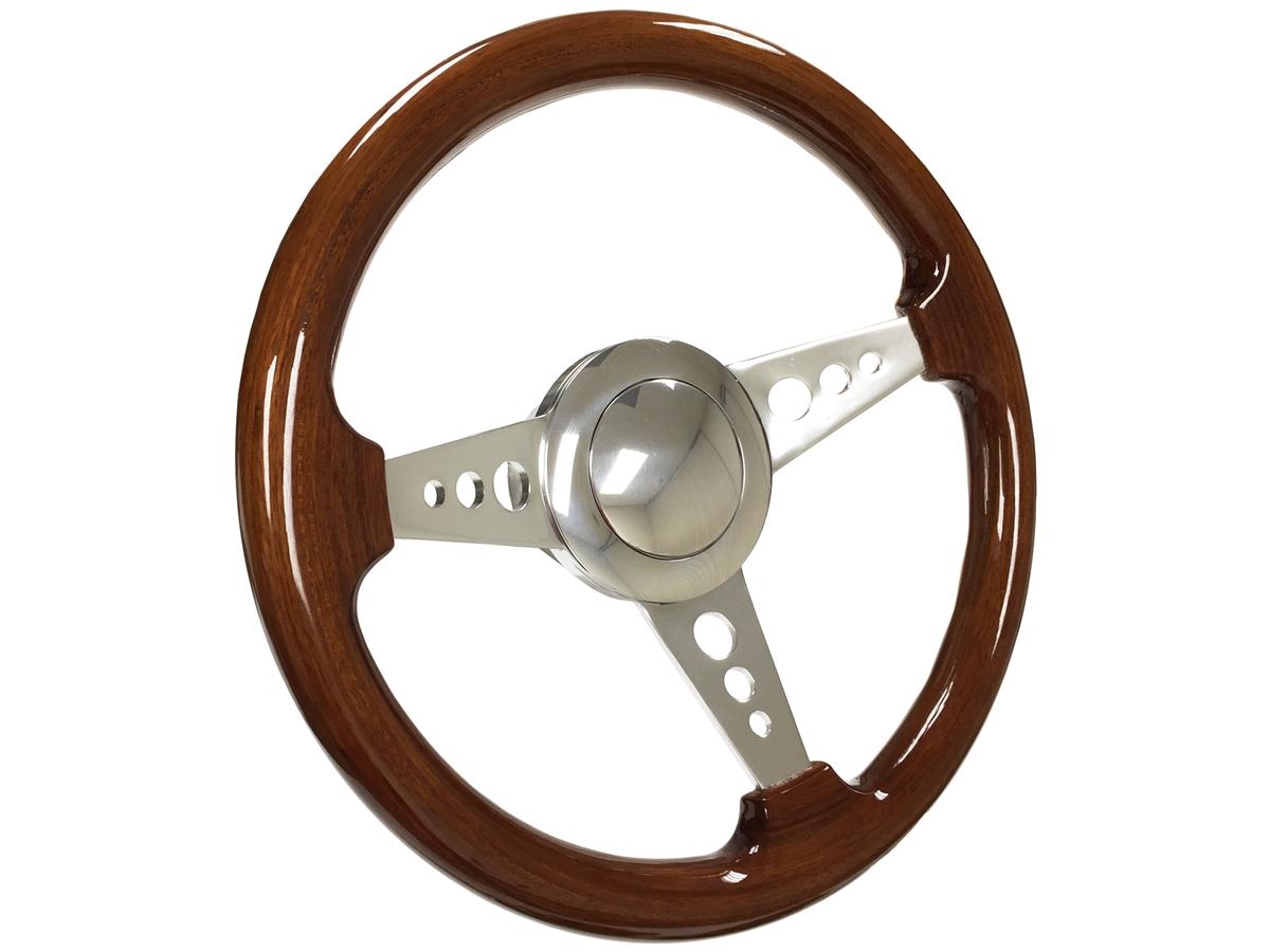 Flaming River Wood /& Black Billet Steering Wheel Kit Ididit or GM-style Column