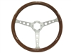 Auto Pro USA , Volante , classic , wood , holes , walnut , brushed , Steering Wheel , anodized , GM , MOPAR , FORD , Corvette , Mustang , Charger , Challenger , Camaro , El camino , Impala , bel air , nova , chevy II , oldsmobile , firebird , bronco , vw
