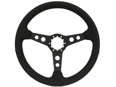 Auto Pro USA , Volante , Sport , Black , suede , hole , Steering Wheel , anodized , Black , GM , MOPAR , FORD , Corvette , Mustang , Charger , Challenger , Camaro , El camino , Impala , bel air , nova , chevy II , oldsmobile , firebird , bronco , vw ,
