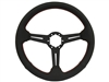 Auto Pro USA , Volante , Black , perforated leather , slots , red stitch , Steering Wheel , GM , MOPAR , FORD , Corvette , Mustang , Charger , Challenger , Camaro , El camino , Impala , bel air , nova , chevy II , oldsmobile , firebird , bronco , vw ,