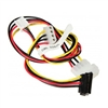 Supermicro CBL-0262L 4pin to 1x SATA (RA) + 1x 4pin (RA) + 1x FPD Power Extender Cable