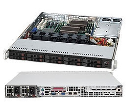 Supermicro 1U SuperChassis CSE-116TQ-R700CB 10 Hot-swap 2.5'' SAS/SATA HDD trays Full height Full length expansion Optimized for DP motherboards 80 PLUS Gold Redundant Power Supplies Full Warranty
