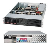 Supermicro 2U SuperChassis CSE-213LT-600LPB 8 Hot-swap 2.5'' SAS/SATA HDD trays 600W High-efficiency Power Supply with Digital Switching Control Full Warranty