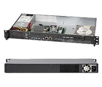 Supermicro CSE-503L-200B 200W Mini 1U Rackmount Server Chassis (Black)