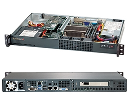 Supermicro 1U SuperChassis CSE-510-203B 8 Hot-swap 2.5'' SAS/SATA HDD trays UIO Full height Full Length Low Profile expansion 80PLUS Platinum Optimized for DP motherboards Full Warranty