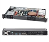 Supermicro CSE-510T-200B 200W Mini 1U Rackmount Server Chassis (Black)