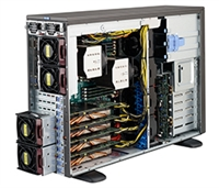 Supermicro 1U SuperChassis CSE-747BTQ-R1K62B 8 Hot-swap 2.5'' SAS/SATA HDD trays UIO Full height Full Length Low Profile expansion 80PLUS Platinum Optimized for DP motherboards Full Warranty