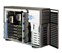 Supermicro 1U SuperChassis CSE-747TQ-R1400B 8 Hot-swap 2.5'' SAS/SATA HDD trays UIO Full height Full Length Low Profile expansion 80PLUS Platinum Optimized for DP motherboards Full Warranty