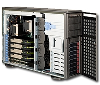 Supermicro 1U SuperChassis CSE-747TQ-R1620B 8 Hot-swap 2.5'' SAS/SATA HDD trays UIO Full height Full Length Low Profile expansion 80PLUS Platinum Optimized for DP motherboards Full Warranty