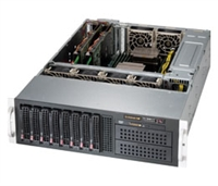 "Supermicro 3U SuperChassis CSE-835BTQ-R1K28B GPU/MIC Server 8 Hot-swap 3.5'' SAS/SATA drive bays 2x5.25"" Drive Bays 7 Full Height Full Length expansion Redundant 80 PLUS Platinum Power Supply optional battery backup power Full Warranty"