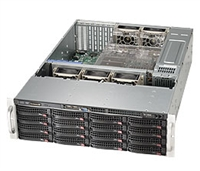 Supermicro 3U SuperChassis CSE-836E16-R1200B 16 Hot-swap 3.5'' SAS drive bays Mini-I-pass optional 3 Fixed internal HDD SAS2 Expander Redundant 80 PLUS Gold Power Supply Full Warranty, nexenta support