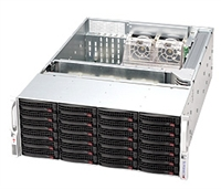 Supermicro Black 4U SuperChassis CSE-846E16-R1200B nexenta support 24 Hot-swap 3.5'' SAS/SATA HDD bays SAS2 expander Mini-i-Pass 1200W (1+1) Gold Level Redundant Power Supply Palletized package for secure transportation Full Warranty