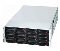 Supermicro Black 4U SuperChassis CSE-847E16-RJBOD1 nexenta support 36 Hot-swap 3.5'' HDD bays Expander supports SAS2 1400W (1+1) Gold Level Redundant Power Supply PMBus Full Warranty
