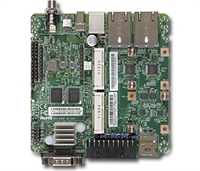 "Supermicro A1SQN-E Motherboard, FCBGA 393, E100 Form Factor, Intel Quark SoC X1021; 2.2W only, Embedded, Long Life Cycle, IoT Gateway, Wide Temperature Range, 512MB DDR3 ECC memory onboard, 4.1"" x 4.0"" small form factor, TPM 1.2 onboard, 2x 10/100Mbps LAN"