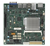Supermicro A2SAV Motherboard, Mini-ITX, Intel Atom processor E3940 (9W, 4C), Embedded, Intel Goldmont microarchitecture 14nm, System-on-Chip, Up to 8GB 1866MHz DDR3L Non-ECC SO-DIMM in 1 socket, Dual GbE LAN with Intel i210-AT
