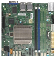 Supermicro A2SDI-2C-HLN4F Motherboard Mini-ITX, Single Socket FCBGA 1310 supported, CPU TDP support 9W, Intel Atom Processor C3338, 2-Core Denverton, Quad 1GbE LAN, IPMI, System on Chip, Up to 128GB Registered ECC DDR4-1866MHz