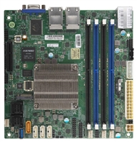 Supermicro A2SDI-8C-HLN4F Motherboard Mini-ITX, Single Socket FCBGA 1310 supported, CPU TDP support 25W, Intel Atom Processor C3758, 8-Core Denverton, Intel Quick Assist Tecnology, Quad 1GbE LAN, IPMI, System on Chip