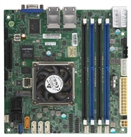 Supermicro A2SDI-8C+-HLN4F Motherboard Mini-ITX, Single Socket FCBGA 1310 supported, CPU TDP support 25W, Intel Atom Processor C3758, 8-Core Denverton, Intel Quick Assist Tecnology, Quad 1GbE LAN, IPMI, System on Chip