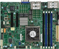 Supermicro A2SDV-12C+-TLN5F Motherboard Flex ATX, Single Socket FCBGA1310, Intel Atom Processor C3858, System on Chip, 12-Core Denverton, Quad 10GbE LAN, Intel Quick Assist Technology, IPMI, CPU TDP support 25W, Up to 256GB Registered ECC DDR4-2400MHz