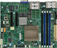 Supermicro A2SDV-8C-TLN5F Motherboard Flex ATX, Single Socket FCBGA1310, Intel Atom Processor C3708, System on Chip, 8-Core Denverton, Quad 10GbE LAN, Intel Quick Assist Technology, IPMI, CPU TDP support 17W, Up to 256GB Registered ECC DDR4-2133MHz