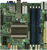 Supermicro A2SDi-H-TP4F Motherboard Mini-ITX, Single Socket FCBGA 1310, Intel Atom Processor C3958, System on Chip, CPU TDP support 31W, Quad LAN with Intel C3000 SoC 2 10GBaseT and 2 10Gb SFP+, Up to 256GB Registered ECC RDIMM, DDR4-2400MHz