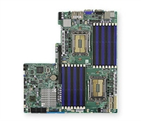 Supermicro A+ H8DGU AMD Motherboard Proprietary Form Factor Dual Opteron 6000 series 1944-pin Socket G34 up to 512GB DDR3 RAMS Dual-port GbE Lan 6 SATA2 ports via SP5100 RAID 0,1,10 Integrated Graphics Full Warranty