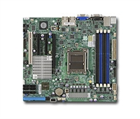 Supermicro A+ AMD Opteron 4000 series H8SCM-F Single 1207-pin Socket C32 6 SATA via AMD SP5100 Controller RAID 0,1,10 Two single-port GbE LAN Integrated Graphics IPMI 2.0+KVM Full Warranty