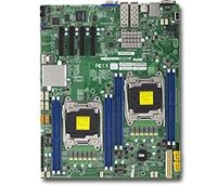 Supermicro X10DRD-ITP Motherboard E-ATX LGA 2011 Intel Xeon Dual Socket R3 supports Intel Xeon processor E5-2600 v4/v3 family; QPI up to 9.6GT/s, Intel C612 chipset