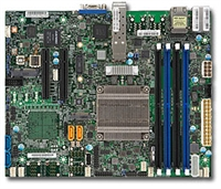 Supermicro X10SDV-2C-TP4F Motherboard Flex ATX, Intel Xeon processor D-1508, Single socket FCBGA 1667; 2-Core, 4 Threads, 25W, Up to 128GB ECC RDIMM DDR4 1866MHz or 64GB ECC/non-ECC UDIMM in 4 sockets, 2 10G SFP+ and 2 GbE LAN, Broadwell-DE, Dual 10GbE