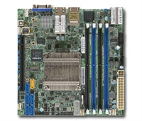 Supermicro X10SDV-4C-TLN4F Motherboard Mini-ITX, System on Chip, Broadwell-DE, Xeon D 4-Core, 7-Year Product Life, Intel Xeon processor D-1518, Single socket FCBGA 1667; 4-Core, 8 Threads, 35W, System on Chip