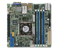 Supermicro X10SDV-4C+-TLN4F Motherboard Mini-ITX, System on Chip, Broadwell-DE, Xeon D 4-Core, 7-Year Product Life, Intel Xeon processor D-1518, Single socket FCBGA 1667; 4-Core, 8 Threads, 35W, System on Chip