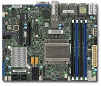 Supermicro X10SDV-7TP8F Motherboard Flex ATX, Intel Xeon processor D-1587, Single socket FCBGA 1667; 16-Core, 32 Threads, 65W, Up to 128GB ECC RDIMM DDR4 2133MHz or 64GB ECC/non-ECC UDIMM in 4 sockets, 2 10G SFP+ and 6 GbE LAN, Broadwell-DE, Dual 10GbE