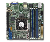 Supermicro X10SDV-8C+-LN2F Motherboard Mini-ITX, System on Chip, Broadwell-DE, Xeon D 8-Core, Intel Xeon processor D-1541, Single socket FCBGA 1667; 8-Core, 16 Threads, 45W 2. System on Chip