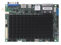 "Supermicro X11SAN Motherboard 3.5"" SBC Form Factor, FCBGA1296, Low Power, Embedded, Up to 8GB 1866MHz DDR3L Non-ECC SO-DIMM in 1 socket Intel Pentium Processor N4200 (6W, 4C) Intel Goldmont microarchitecture 14nm System-on-Chip Dual GbE LAN"