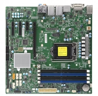 Supermicro X11SCQ Motherboard uATX 8th Generation Intel Core i7/i5/i3/Pentium/Celeron Processor, Single Socket H4 (LGA 1151) supported, CPU TDP support Up to 95W TDP, High Performance, vPro AMT, 2666MHz DDR4, Embedded