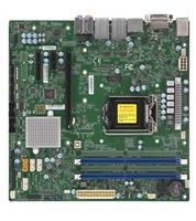 Supermicro X11SCQ-L Motherboard uATX Embedded, 6-Core, 2666MHz DDR4, 8th Generation Intel Core i7/i5/i3/Pentium/Celeron Processor, Single Socket H4 (LGA 1151) supported, CPU TDP support Up to 95W TDP