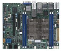 Supermicro X11SDV-12C-TP8F Motherboard Flex ATX Intel Xeon Processor D-2166NT, CPU TDP support 85W, System on Chip. Xeon D SoC, Up to 256GB Registered ECC RDIMM, DDR4-2133MHz; Up to 512GB LRDIMM LRDIMM, in 4 DIMM slots, SoC controller for 12 SATA3