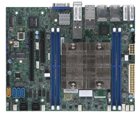 Supermicro X11SDV-16C-TP8F Motherboard Flex ATX Intel Xeon Processor D-2183IT, CPU TDP support 100W, System on Chip. Xeon D SoC, Up to 256GB Registered ECC RDIMM, DDR4-2400MHz; Up to 512GB LRDIMM LRDIMM, in 4 DIMM slots, SoC controller for 12 SATA3