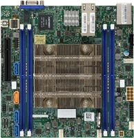 Supermicro X11SDV-8C-TLN2F Motherboard Mini-ITX, FCBGA2518, Intel Xeon Processor D-2141I, Dual LAN with 10GBase-T with Intel X557, System on Chip, Skylake-D, 8-Core, NVMe, Dual 10GbE