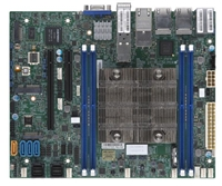 Supermicro X11SDV-8C-TP8F Motherboard Flex ATX Intel Xeon Processor D-2146NT, CPU TDP support 80W, System on Chip. Xeon D SoC, Up to 256GB Registered ECC RDIMM, DDR4-2133MHz; Up to 512GB LRDIMM LRDIMM, in 4 DIMM slots, SoC controller for 12 SATA3 (6 Gbps)