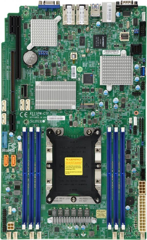 Supermicro MBD-X11SPW-CTF Motherboard Intel Xeon C622 LGA 3647 DDR4  PCI-E3 0 SATA3