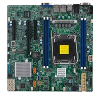 Supermicro MBD-X11SRM-VF-O microATX Motherboard, Intel Xeon Processor W Family, Single Socket R4 LGA 2066, Intel C422 Chipset, Intel i210 Dual port GbE LAN