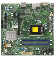 Supermicro X11SSQ-L Motherboard Micro-ATX Single socket H4 (LGA 1151) Embedded, Desktop, supports Intel 7th/6th Gen. Core i7/i5/i3 series, Intel Celeron and Intel Pentium Intel H110 Chipset Up to 32GB Unbuffered Non-ECC UDIMM DDR4 2400MHz; 2 DIMM slots