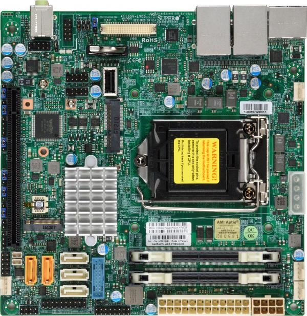 Supermicro X11SSV-LVDS Motherboard Mini-ITX Single socket H4 (LGA 1151)  vPro AMT, Embedded, Intel Q170 Express chipset