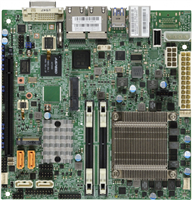 Supermicro X11SSV-M4F Motherboard Mini-ITX Skylake-H, Intel VHD, IPMI, Intel Xeon processor E3-1585 v5, Single socket FCBGA 1440, 4-Core, 8 Threads, 65W Intel C236 chipset Up to 32GB ECC Unbuffered SO-DIMM DDR4 2133MHz; 2 DIMM slots