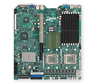 Supermicro MBD-X7DBR-8 Dual LGA771 Socket Dual GbE LAN Port ATI graphics 6 ports SATA controller dual channel ultra320 SCSI Zero channel RAID support SIMSO IPMI 2.0 Full Warranty