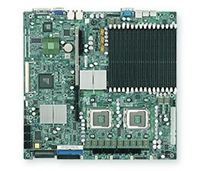 Supermicro MBD-X7DBR-8+ Dual LGA771 Socket Dual GbE LAN Port ATI graphics 6 ports SATA controller dual channel ultra320 SCSI Zero channel RAID support SIMSO IPMI 2.0 Full Warranty