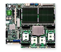 Supermicro MBD-X7QC3 Quad 604-pin FC-PGA6 Sockets Dual-Port GbE Controller SATA SAS Controller SIMSO IPMI 2.0 with Dedicated Lan ATI Graphics Full Warranty