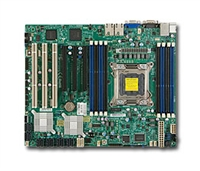 Supermicro  MBD-X9SRE Single socket R (LGA 2011)  4 SATA ports via SCU Dual port GbE LAN DDR2 graphics Full Warranty