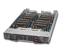 Supermicro Twin Blade SBI-7228R-T2F2 Dural socket R3 LGA 2011 Intel Xeon E5-2600v3 DDR4 2x2.5-in SATA3 Hot-Swap IPMI 1xFDR Black